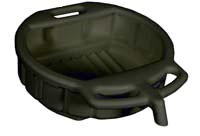 Lisle 4.5 Gal Oil Drain Pan W/Pouring Spout-Black