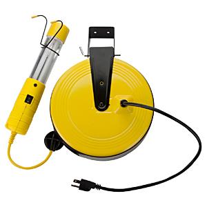 Bayco 13 Watt Fluorescent Work Light 50'Ft.Retactable Reel