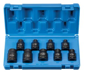 "Grey Pneumatic Corp. 1/2"" Drive 9 Piece External Star Impact Socket Set at Sears.com"
