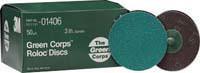 "3M 24G 3"" Green Corp Roloc Disc"