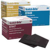 "3M Scotch-Brite 6"" X 9"" Light Duty Cleansing Pad White (20) at Sears.com"