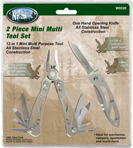 Performance Tool 2 Piece Mini Multi Tool Set