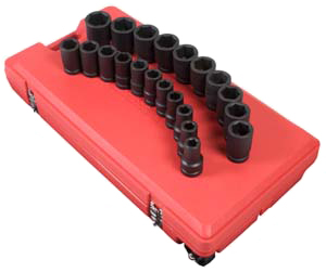 "Sunex 1"" Drive Deep 21 Piece Sae Impact Socket Set at Sears.com"