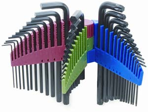 Titan 39 Piece Long Arm Hex Key Set Metric  Fractional And Torx at Sears.com