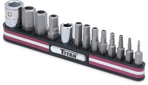 Titan Tamper Resistant SAE Hex Bit Set on Magnetic Rail